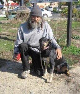 K. G. man and dog