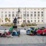 Tents Near City Hall